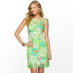 Lilly Pulitzer Shiloh sz 4 splash dress green lace